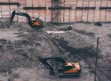 Machines de construction de bâtiments images libres de droits