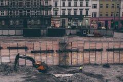 Machines de construction de bâtiments photo stock