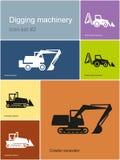 Machines de creusement illustration de vecteur