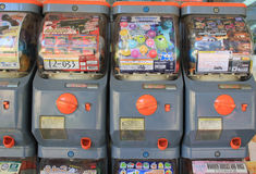 Machines de Gashapon Photographie stock