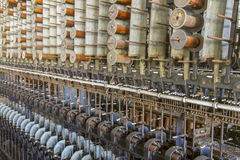 Machines de lancement de fil en soie Photographie stock libre de droits