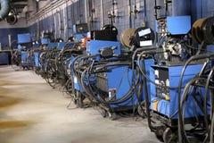 Machines de soudure de MIG Image stock