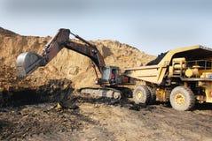 Machines de tracteur à chenilles Photo stock