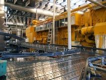 Machines in een moderne fabrieksinstallatie Stock Afbeelding