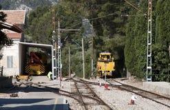 Machines ferroviaires de mentenance photo libre de droits