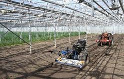 Machines in the Greenhouse Royalty Free Stock Photography