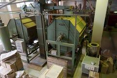 Machines industrielles pour sécher le thé vert photographie stock