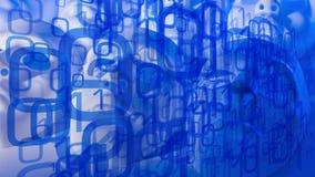 Machines intelligentes créées par de l'informatique, conception de sécurité de cyber illustration stock