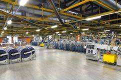 Machines of a large printing plant - printing of daily newspaper. S Stock Photography
