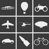 Machines for movement Icons. Set of Icons on a theme Machines for movement Stock Photos
