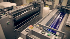 Machines for offset printing stock video footage