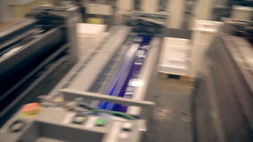 Machines for offset printing stock footage