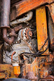 Machines oude tractoren stock foto