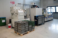 Machines-outils avec la commande numérique d'ordinateur et le x28 ; CNC& x29 ; Photo libre de droits