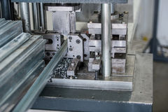 Machines for the production of plastic windows Stock Photography
