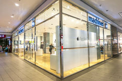 Machines shop. SELANGOR - DEC 10: Exterior of an Apple store as the US technology giant launches the new iPhone 6 on Dec 10, 2014 in Selangor, Malaysia Stock Image