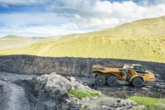 Machines spécialisées utilisées à l'excavation de charbon Images stock