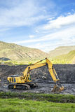 Machines spécialisées utilisées à l'excavation de charbon Photographie stock