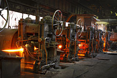 Machines at the steel shop Royalty Free Stock Photography