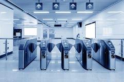 Machines van het de ingangs de automatische kaartje van de metropost royalty-vrije stock afbeelding