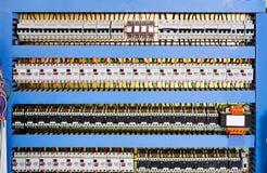 Machinescontrolekamer Stock Foto