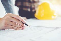 Machinez la réunion pour le projet architectural et le fonctionnement avec la partie photo libre de droits