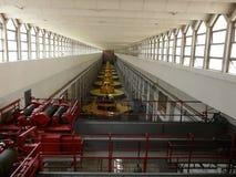 Machinezaal van hydro-elektrische Nurek Royalty-vrije Stock Foto