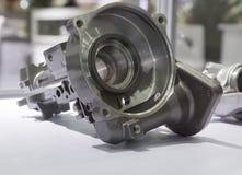 Machining aluminum die casting part. Machining aluminium die casting part for automotive stock photo