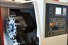 Machining center with CNC. With display Stock Image