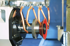 Machining center equipment with tools Stock Photo