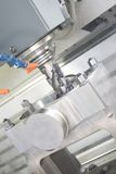 Machining centre. The business end of a CNC machining centre stock photos