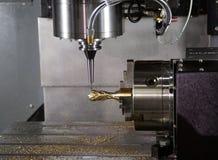 Machining world cup trophy. Machining football world cup trophy on milling machine stock photo