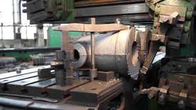 Machining parts factory. stock video footage