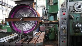 Machining parts factory. stock footage