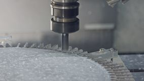 Machining proces - CNC młyńska produkcja postępowa metal część zbiory wideo