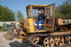 Machinist caterpillar Royalty Free Stock Images