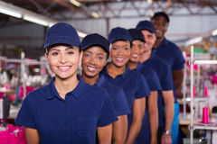 Machinists line up Royalty Free Stock Photography