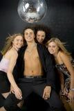 Machista con tres womans Imágenes de archivo libres de regalías