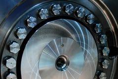Machnine rotorowych ostrzy turbinowy zbliżenie zdjęcia royalty free