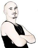 Macho adolescente de Grunge ilustração do vetor
