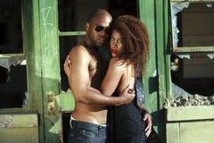 Macho & fêmea do African-American Fotos de Stock