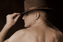 Macho com chapéu Fotografia de Stock