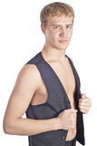 Macho considerável novo no waistcoat Imagem de Stock
