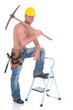Macho construction worker Royalty Free Stock Image