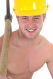 Macho construction worker Stock Images
