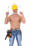 Macho construction worker Stock Photography
