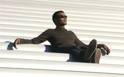 Macho do African-American da idade da faculdade Imagens de Stock