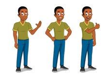 Macho do americano africano Imagem de Stock