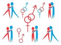 Macho e fêmea ilustração stock