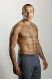 Macho Fit Latin Guy. This image shows a fit Latin Guy with a tough look Royalty Free Stock Images